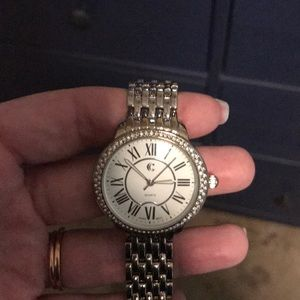 Charming Charlie elegant silver linked watch